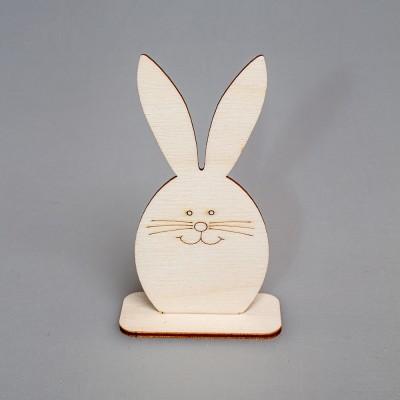 """Фигурка из фанеры плоская """"Пасхальный кролик """"( малая) на подставке"""