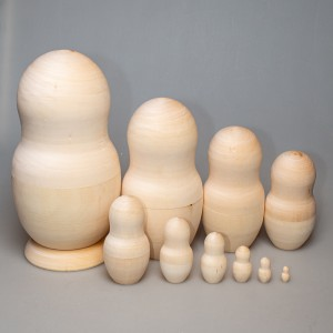 Деревянная заготовка матрешки 10-ти кукольная