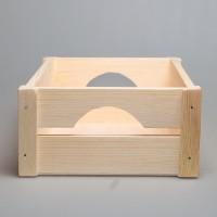 Реечный короб из дерева 36 х 23 х12 см