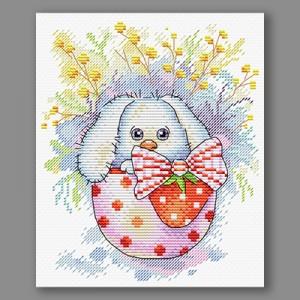 """Набор для вышивания """"М.П.Студия"""" М №12 №225 """"Пасхальный кролик"""" 14 х 18 см"""