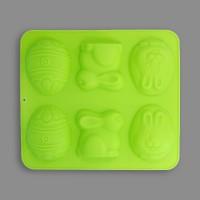 """Форма силиконовая """"Pan-Cake"""" для пирожных SPC-0033 30 x 26.5 x 2.5 см """"Пасха-6 ячеек"""""""