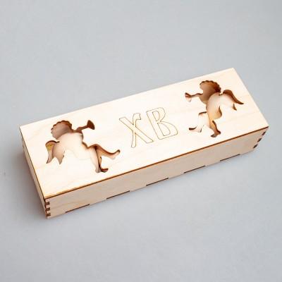 Набор пасхальных яиц №2 (5 шт.) в фанерной коробке