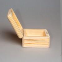 Деревянная заготовка шкатулка квадратная (с округленными углами) 10 х 10 х 5,5 см