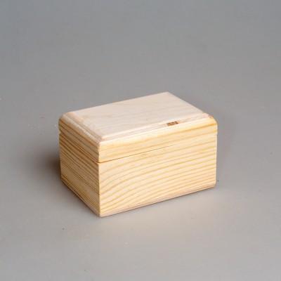 Деревянная заготовка шкатулка прямоугольная (с округленными углами крышки) 9 х 6 х 5 см