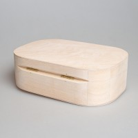 Деревянная заготовка шкатулка с округлёнными краями 19 х 13 х 6 см