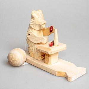 """Богородская игрушка  """"Медведь за столом"""""""