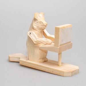 """Богородская игрушка """"Медведь за компьютером"""""""