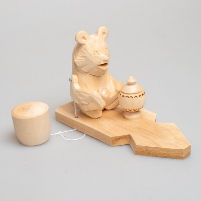 """Богородская игрушка  """"Медведь пьет чай"""""""