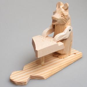"""Богородская игрушка  """"Медведь-музыкант"""""""