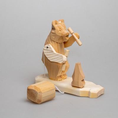 """Богородская игрушка  """"Медведь с гантелями"""""""