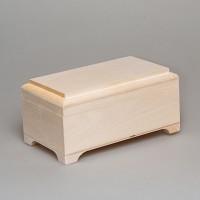 Деревянная заготовка шкатулка с фрезой на крышке 18 х 10 х 9 см