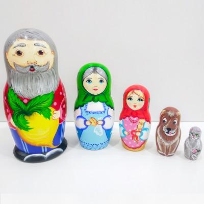 "Матрешка ""Сказка Репка"" 14 см 5 мест МП51403"