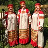"""Костюм фольклорный """"Забава"""" (взрослый) лен"""