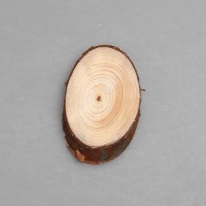 Деревянный спил 7 х 4,5 см (овальный тип)