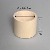 Деревянный браслет взрослый 7см (прямой)