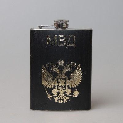 """Фляжка металлическая """"МВД"""""""
