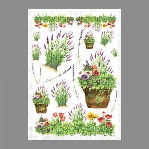 """Бумага рисовая IRP 32 x 45 0113 Разные цветы """"Love2art"""""""
