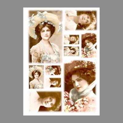 """Бумага рисовая IRP 32 x 45 0136 Фотопортреты 3 """"Love2art"""""""