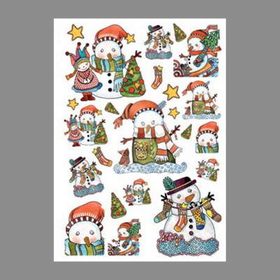 "Бумага рисовая IRP 32 x 45 0155 Забавный снеговик ""Love2art"""