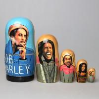 """Матрешка """"Bob Marley"""" с покрытием лаком"""
