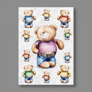 "Бумага рисовая IRP 32 x 45 0006 Медведь ""Love2art"""