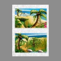 """Бумага рисовая IRP 32 x 45 0124 Пальма на пляже """"Love2art"""""""
