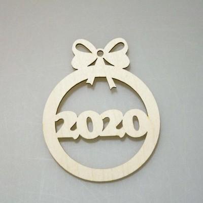 """Фигурка подвес с контуром """"Новогодний шар 2020"""""""