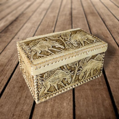 "Коробка из бересты ""Лоси"" 280х160х145 мм"