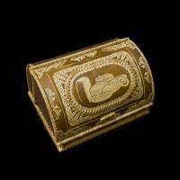 Хлебница из бересты с рисунком хлебных изделий 330х270х190мм