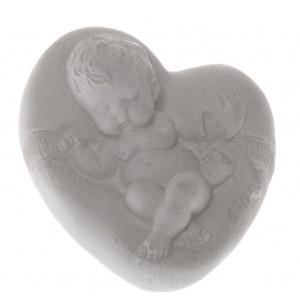 """Фигурка из гипса """"Младенец на подушке-сердечке-2"""""""