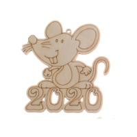 """Фигурка подвес с контуром """"2020 год Крысы"""""""