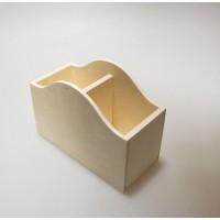 Карандашница из фанеры (две секции) 18х13х8см