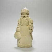 """Резная деревянная заготовка """"Дед Мороз"""""""