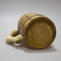 """Деревянная заготовка """"Кружка дубовая с металлическими стенками и дном"""" 14,5 х 11,5 см"""