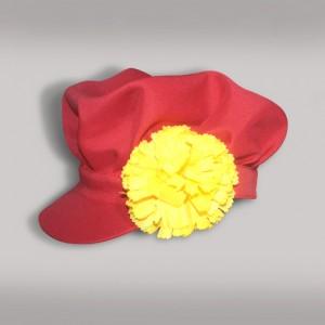 Картуз мужской русско-народный (креп-сатин) красный