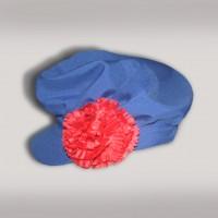 Картуз мужской русско-народный (креп-сатин) синий