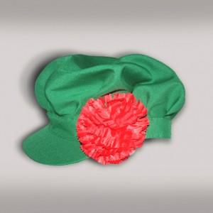 Картуз мужской русско-народный (креп-сатин) зеленый