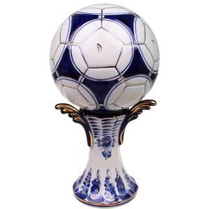 Кубок «Мяч» (гжель, золото)