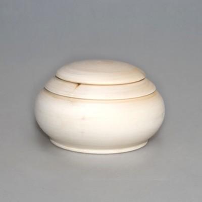Шкатулка деревянная круглая фигурная 9 см