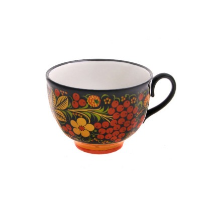 """""""Чашка чайная"""" из чайного сервиза """"Рябина"""" (хохлома)"""