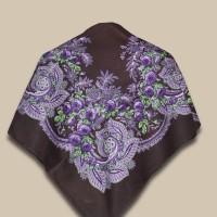 Павловопосадский платок «Сиреневый вечер»