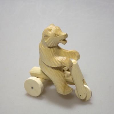"""Богородская игрушка """"Медведь на велосипеде"""""""