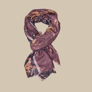 Павловопосадский шарф (палантин) мужской «10373-6»