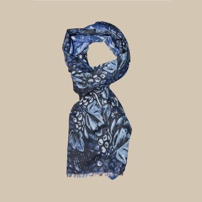 Павловопосадский шарф (палантин) мужской «10373-14»