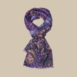Павловопосадский шарф (палантин) мужской  «10373-15»