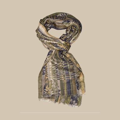 Павловопосадский шарф (палантин) мужской «10370-2»