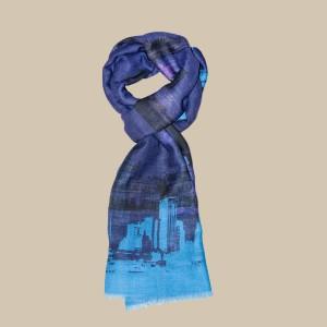 Павловопосадский шарф (палантин) мужской «10643-15»