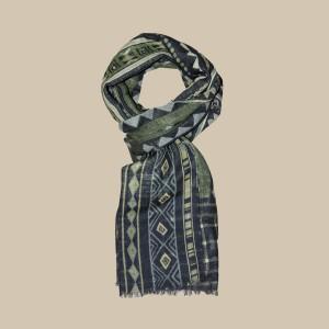 Павловопосадский шарф (палантин) мужской «10369-10»