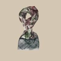 Павловопосадский шарф (палантин) мужской «10486-9»