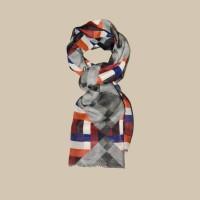 Павловопосадский шарф (палантин) мужской «10481-18»
